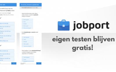 Jobport-testen blijven gratis
