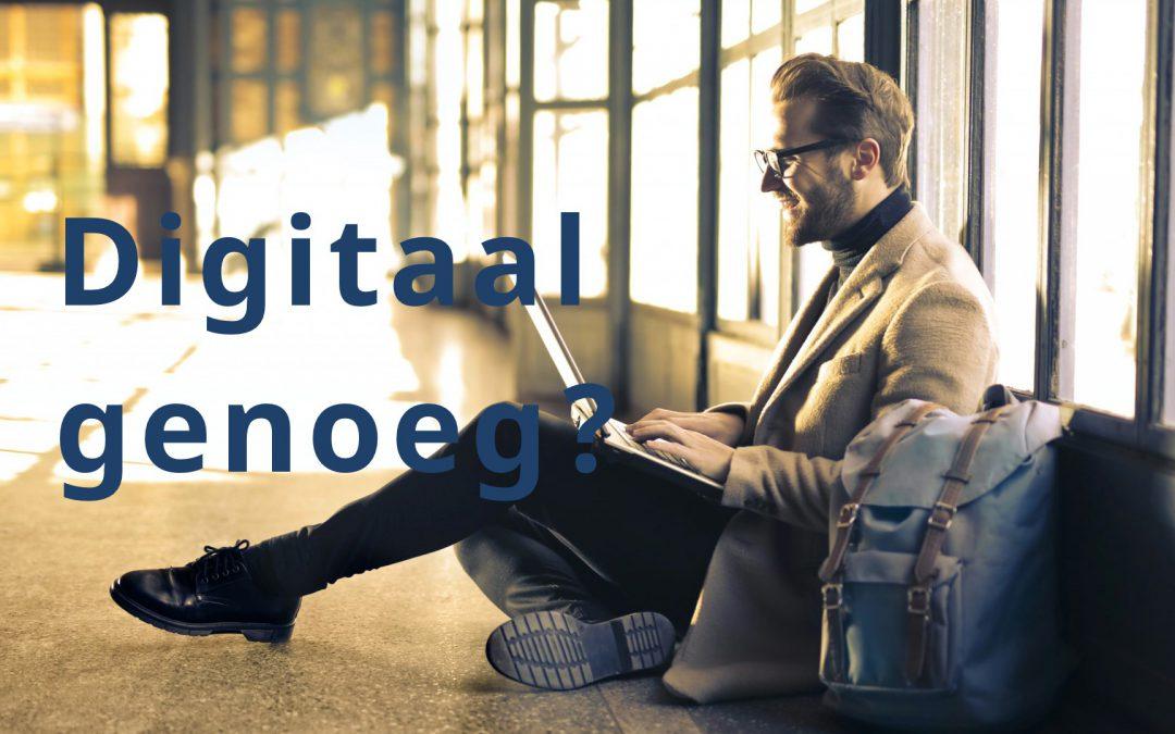 Is het domein Werk & Inkomen digitaal genoeg?
